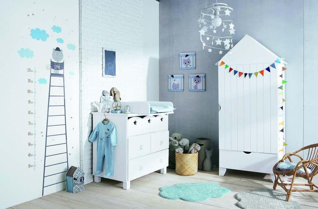 Height Gauge Sticker, £15, Changing Pad, £27 Cloud Rug, £15, Set of 3 Pi...