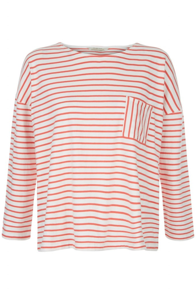 People Tree Women's Elba Stripe Long Sleeve Top