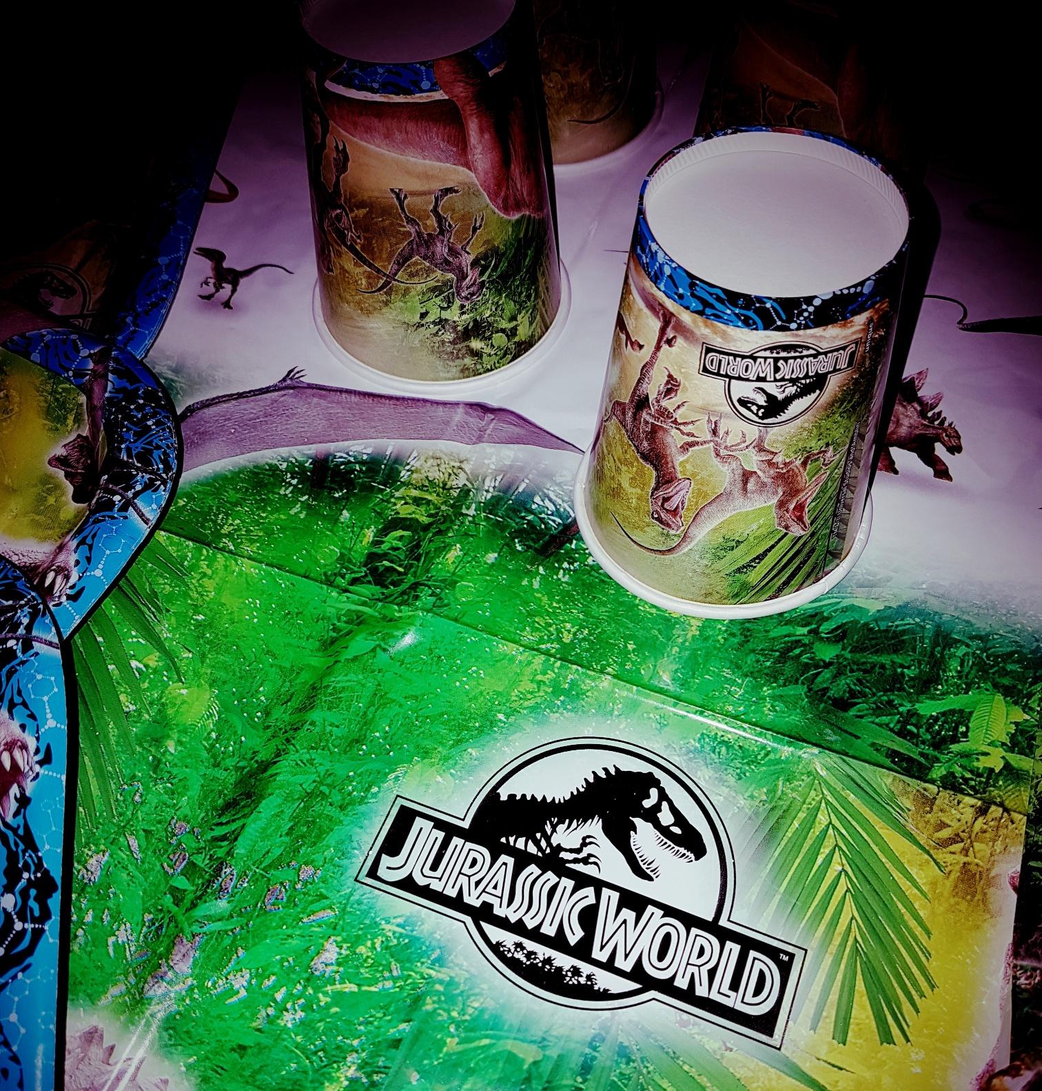 A dinosaur themed birthday