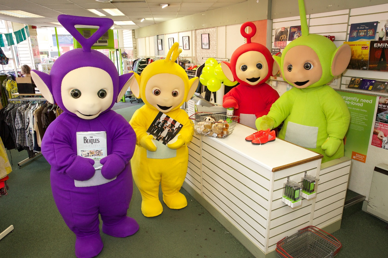 Teletubbies support Barnardo's