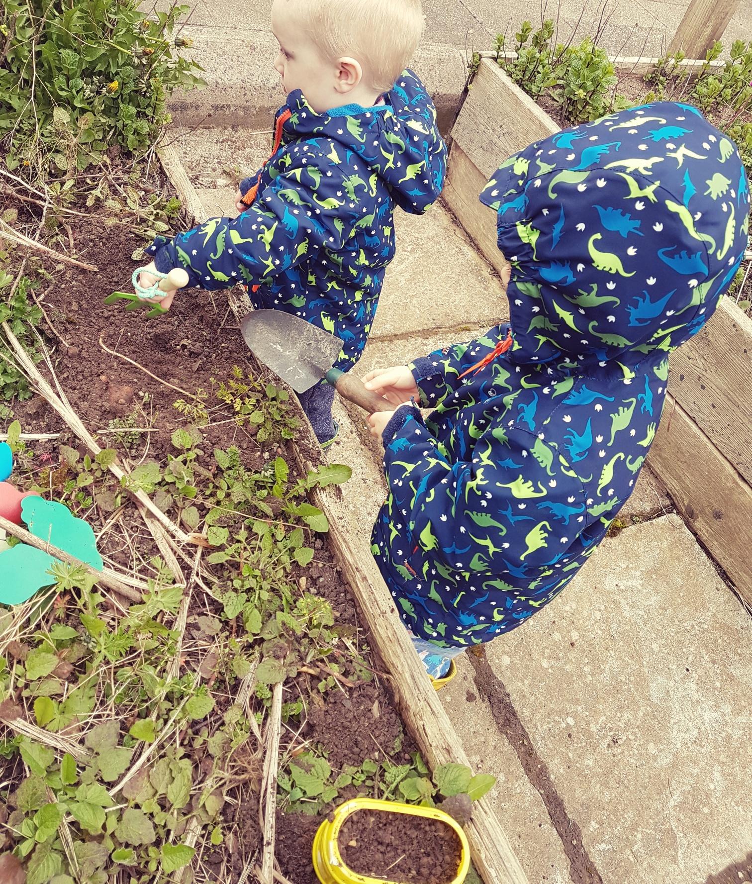 busy little gardeners