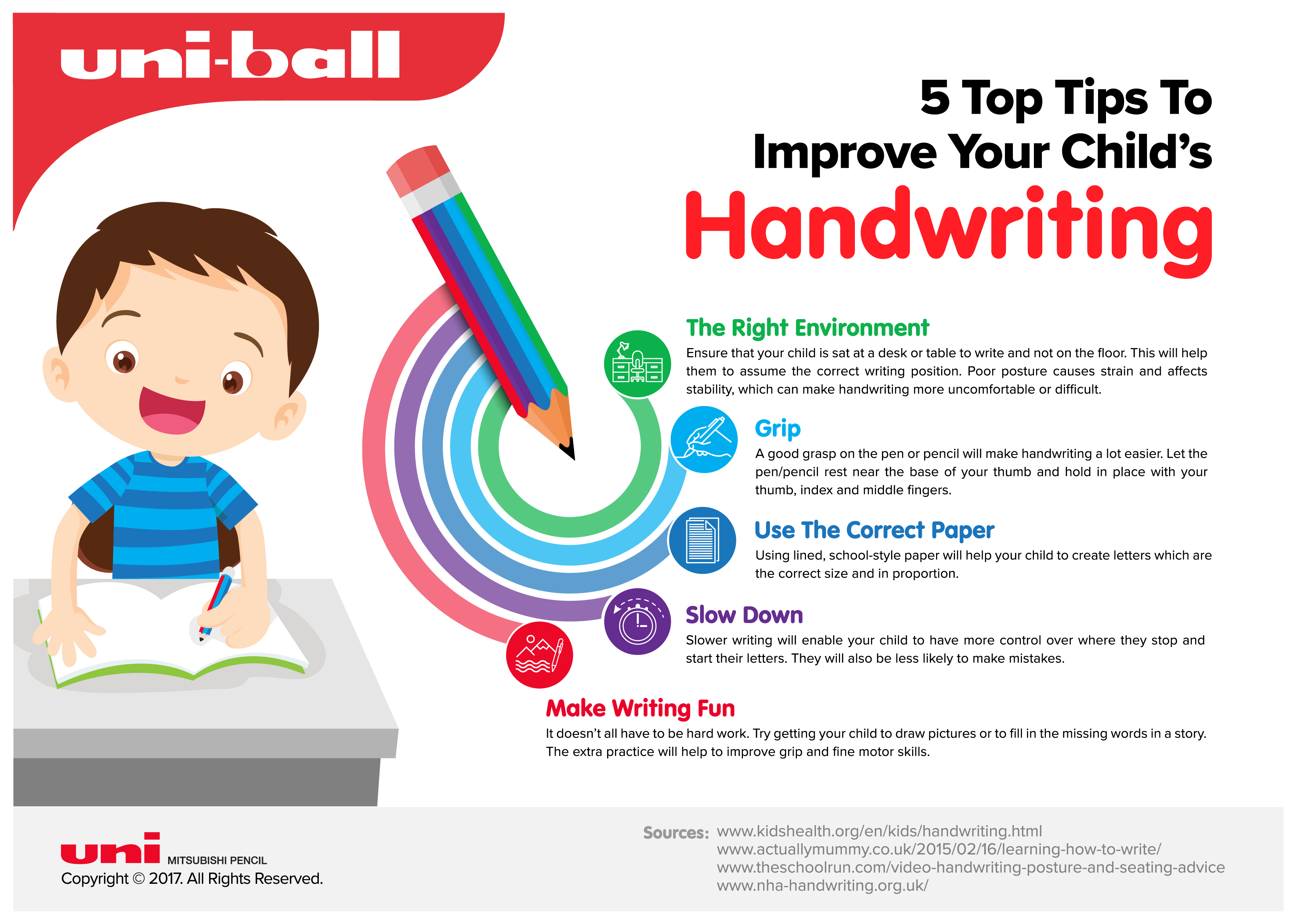 Top Tips To Improve Your Child's Handwriting