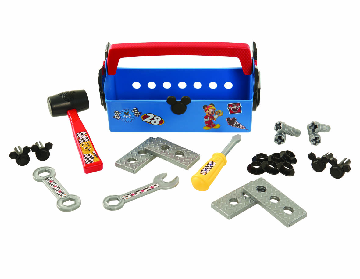 Mickey Roadster Racers Pit Crew Tool Box Contents