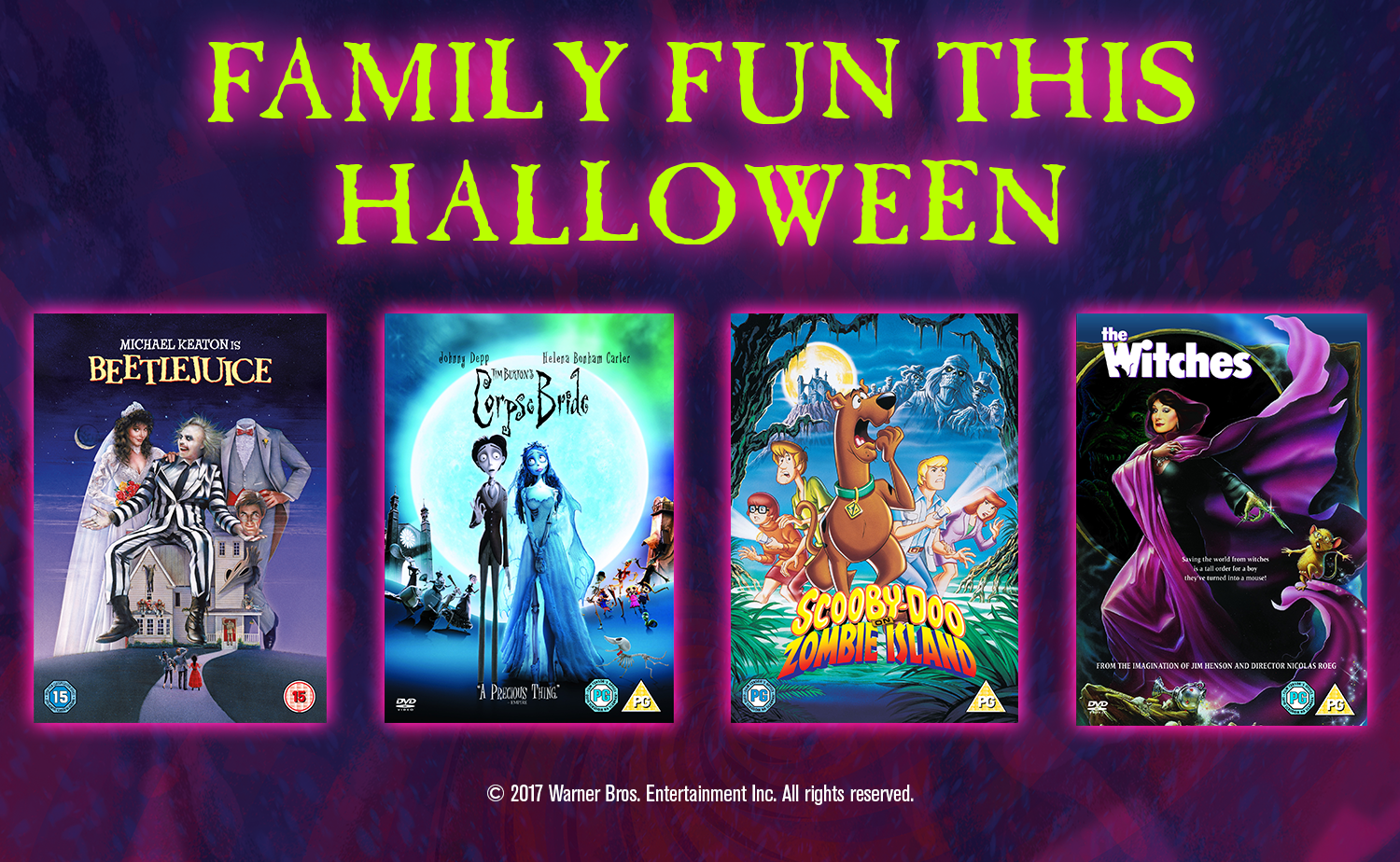 win family movies for Halloween