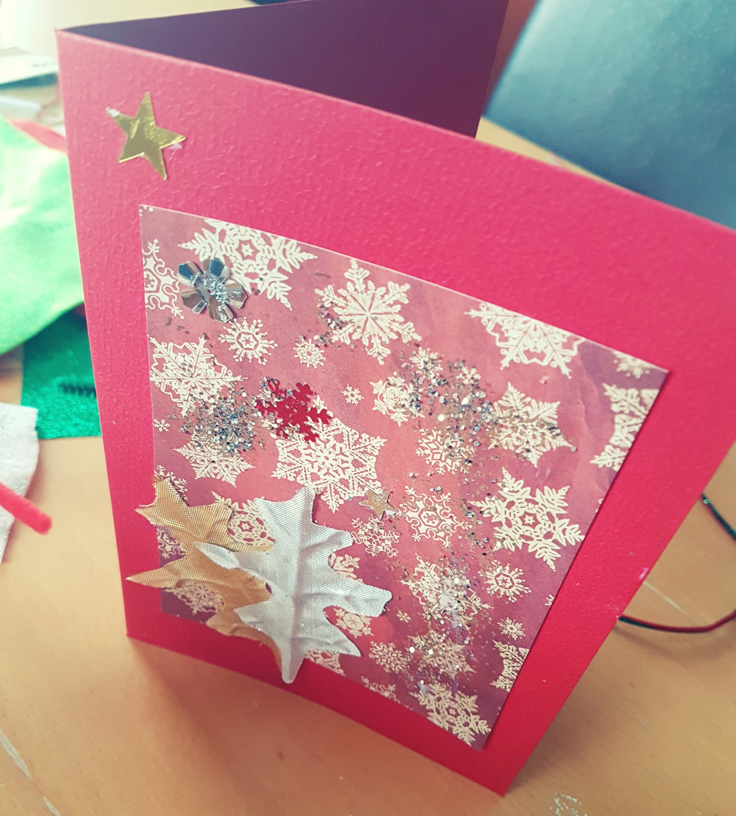 making Christmas cards