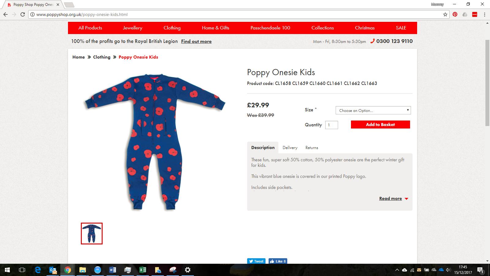 poppy onesie