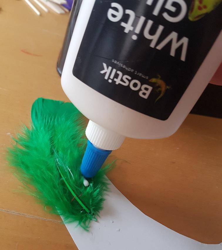 making a bird puppet