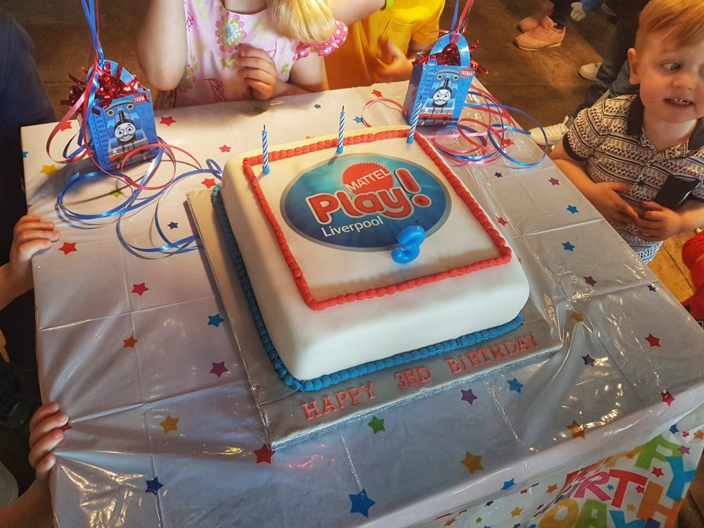 Mattel Play Liverpool Celebrates Third Birthday With Cake And
