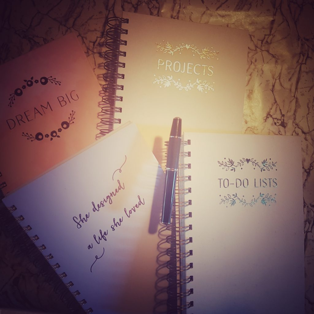 getting organised with personalised notebooks