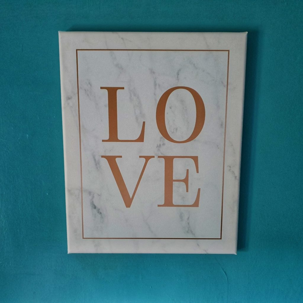 canvas love print